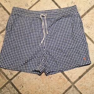 Polo by Ralph Lauren gingham swim trunks